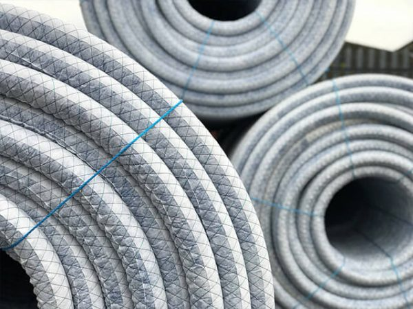 80mm x 450m wrapped land drain pipe